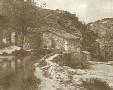 Il Mulino delle Scalere prima della costruzione della diga del Brasimone.