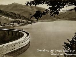 Cartolina del Bacino del Brasimone.